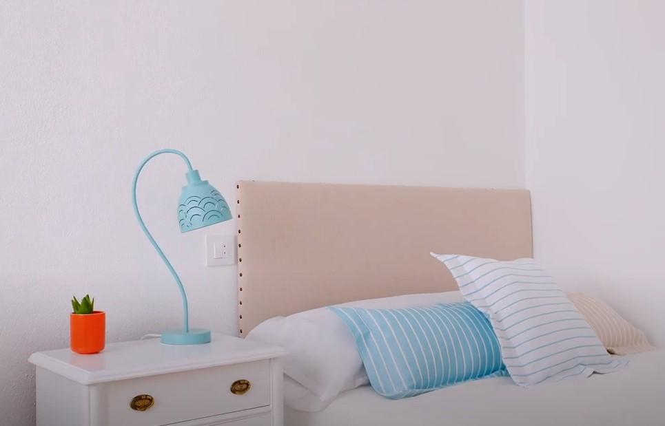 como hacer un cabecero de cama facil